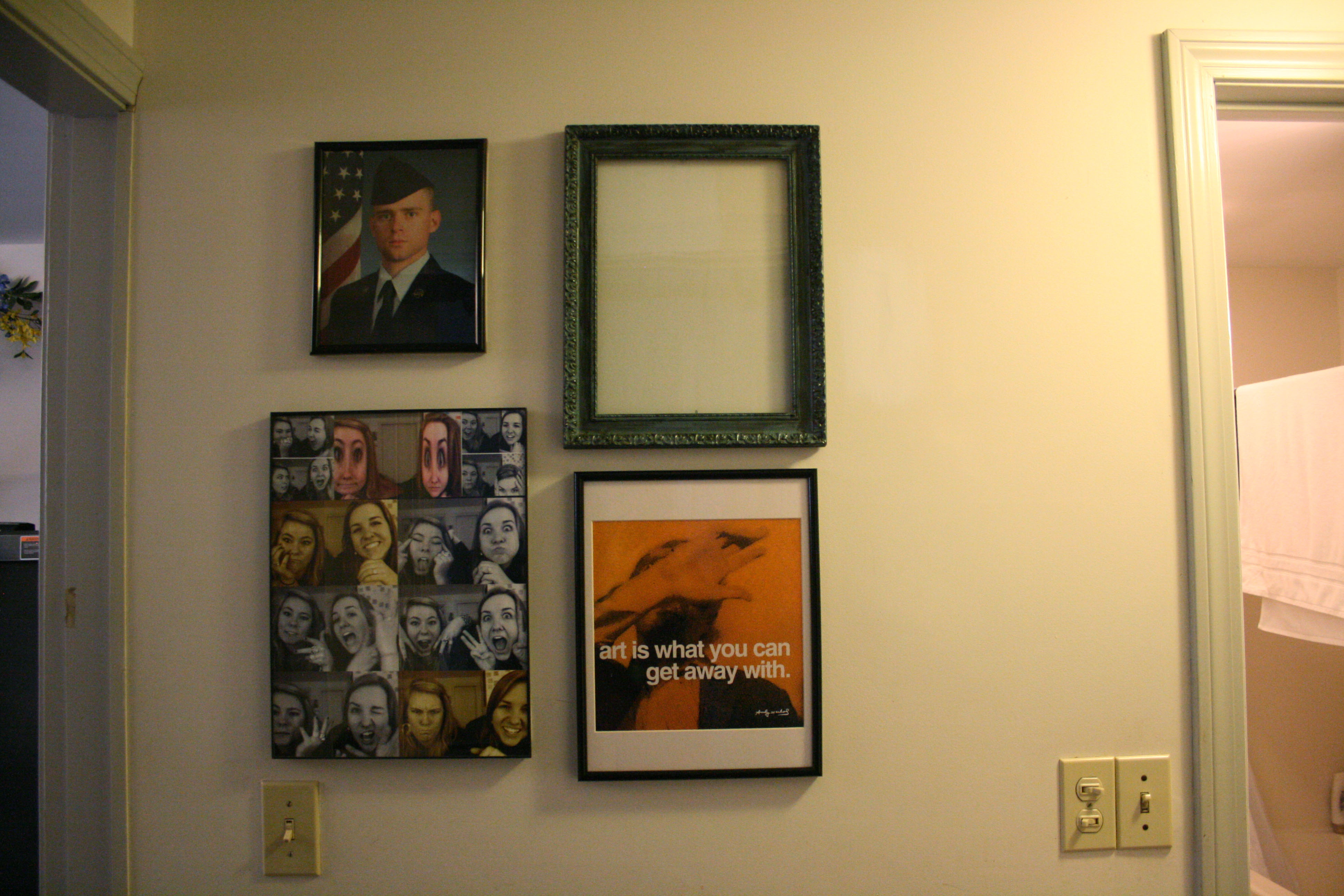 Frame Wall. | i\'m a transplant from california